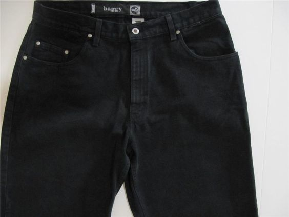 Levi Silvertab Baggy 37 Jeans 37 in. x 31 Black Denim Mens Made