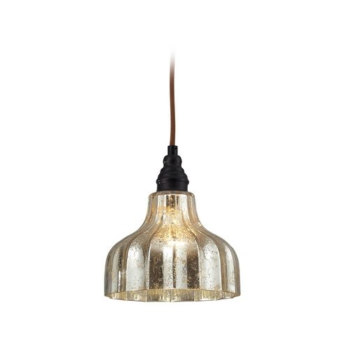 elk lighting danica mini pendant light with mercury glass
