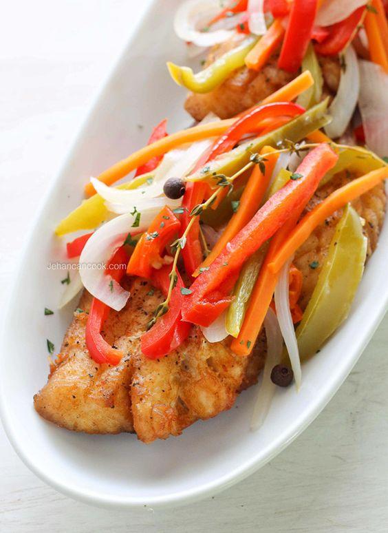 Jamaican escovitch fish recipe simple dinner and fish for Jamaican fish recipe