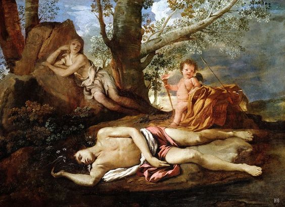 Echo and Narcissus. 1628-30. Nicolas Poussin. French. 1594-1665.: