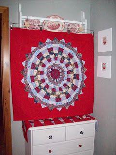Mandalawandbehang aus Soffresten