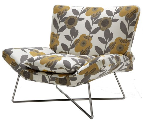 loungey chair, great pattern