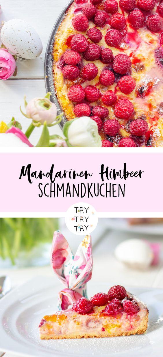 Mandarinen-Himbeer-Schmandkuchen