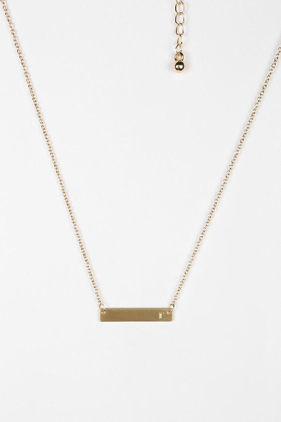Initial Bar Necklace - Urban Outfitters
