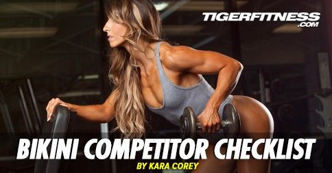 The Comprehensive Bikini Competitor Checklist
