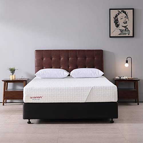 Le Confort 10 Inch Queen Cool Gel Memory Foam Mattress California Fire Resistant Queen Mattress In A Box Mattress Foam Mattress Comfort Mattress