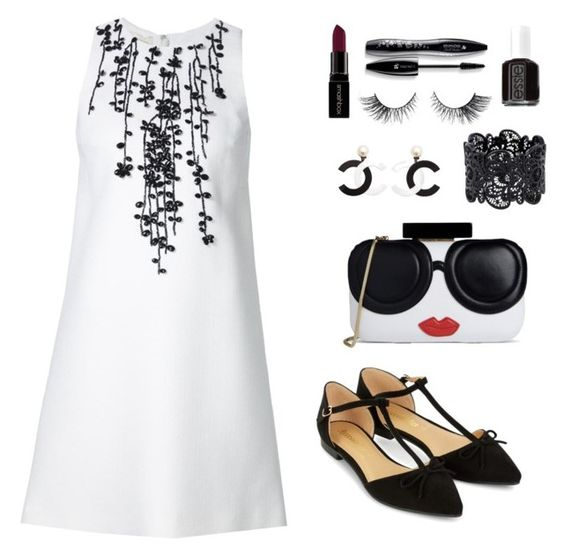 """""""Untitled #72"""" by ihottestpm ❤ liked on Polyvore featuring Alice + Olivia, Accessorize, Lancôme, Essie and Smashbox"""