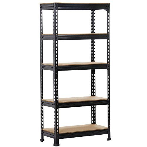 Heavy Duty 5 Tier Layer Shelf Garage Shelving Unit Racking Organzizer Warehouse