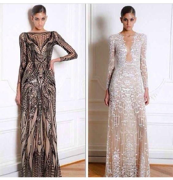 Sparkles and see through details on evening gowns all dayyyy!!!
