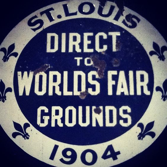Trolley sign for direct-line route to World's Fair ©Missouri History Museum