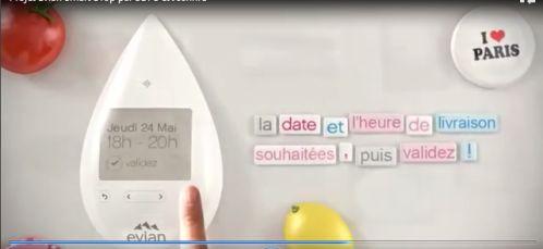 MAISON - vente d'eau via frigo connecté : Smart drop d'Evian