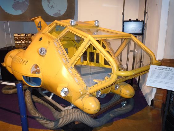 Live-action Thunderbird 4 submersible movie prop