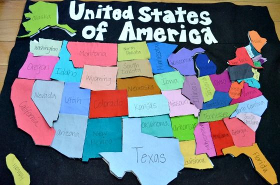 DIY US Map Playmat - great teaching tool! #DIY