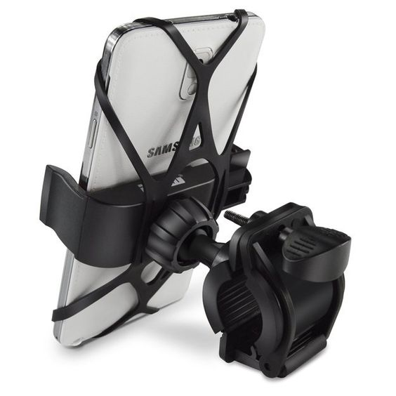 A universal phone mount for bicycles that allows you to see important notifications or your GPS.