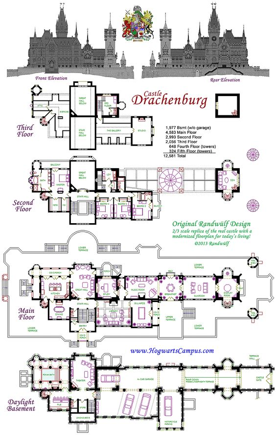 Modern modern living and nice on pinterest for Modern castle floor plans