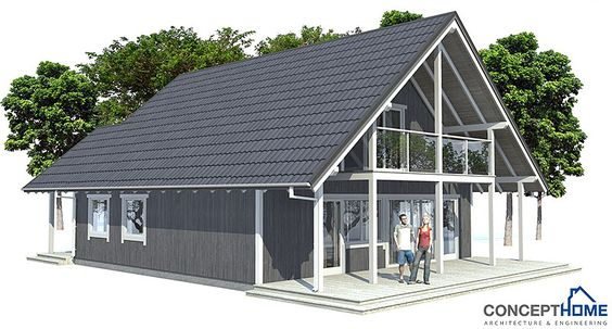 Small House plan CH45 home design with affordable building budget. House Plan