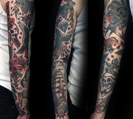 Top 59 Vintage Tattoo Ideas 2020 Inspiration Guide Traditional Tattoo Sleeve Traditional Tattoo Old School Tattoo Sleeve