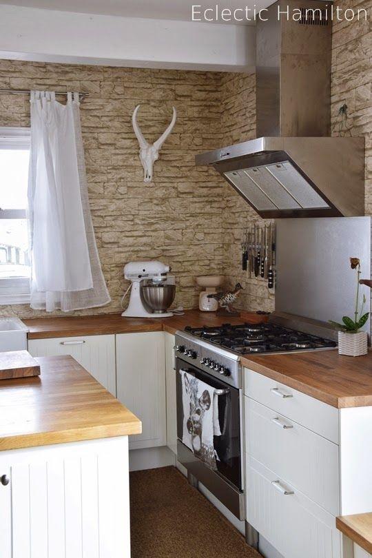 Küche Kitchen Hamilton Landhausküche Gasherd Küchenblock Kitchen - küche mit küchenblock