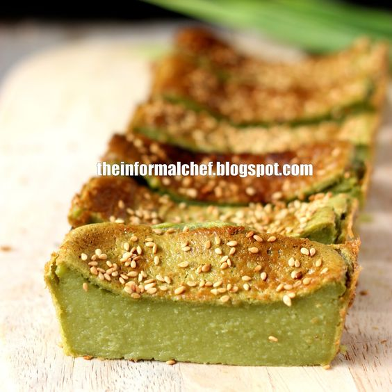 The Informal Chef: Baked Pandan Cake/Kuih Pandan Bakar 烤香兰糕