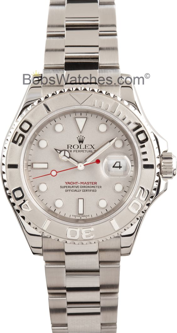 THIS JUST IN: Men's Rolex Yacht-Master http://www.bobswatches.com/mens-used-rolex/rolex-mens-used-yachtmaster-stainless-steel-and-platinum-16622.html