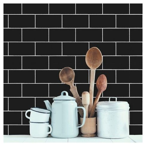 Devine Color Prints And Patterns Textured Subway Tile Black Is A Peel And Stick Removable Wall Textured Subway Textured Subway Tile Peel And Stick Wallpaper