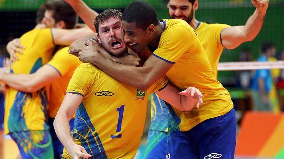 Brasilien im Freudentaumel: Volleyballer vergolden Olympia-Abschluss