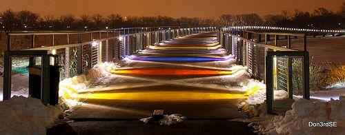 Walking Bridge - Gray's Lake Park  ~EXPLORE 12/20/2009 by Don3rdSE, via Flickr
