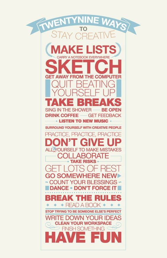 how to stay creative.