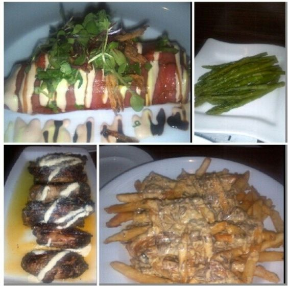 Tuna Canneloni, Asparagus, Short Rib Cheese Fries, Osteria Wings- Catelli Duo Voorhees, NJ
