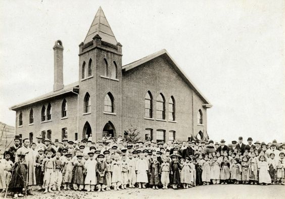 Church, probably Methodist. Are any of my family in this picture? Yours? Early Japanese Colonial Period postcard art/photography.