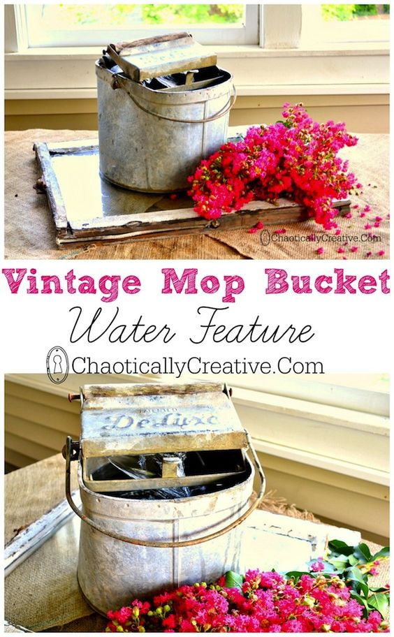 Vintage Mop Bucket Water Feature and a most stressful day...