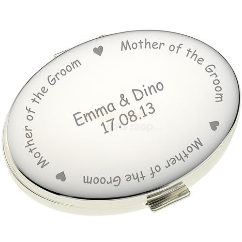 Engraved Oval Handbag Mirror - Mother of the Groom  from Personalised Gifts Shop - ONLY £16.95