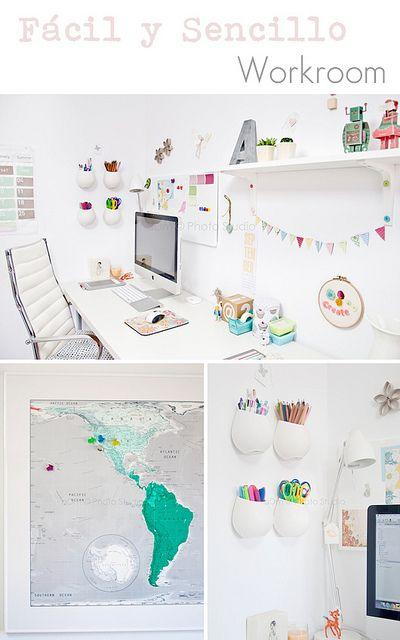 FacilySencillo WorkRoom. More photos in http://www.facilysencillo.es/2012/06/decor-mi-zona-de-trabajo-actualizada.html