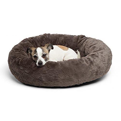Best Friends By Sheri Luxury Faux Fur Donut Cuddler 23x23 Mink