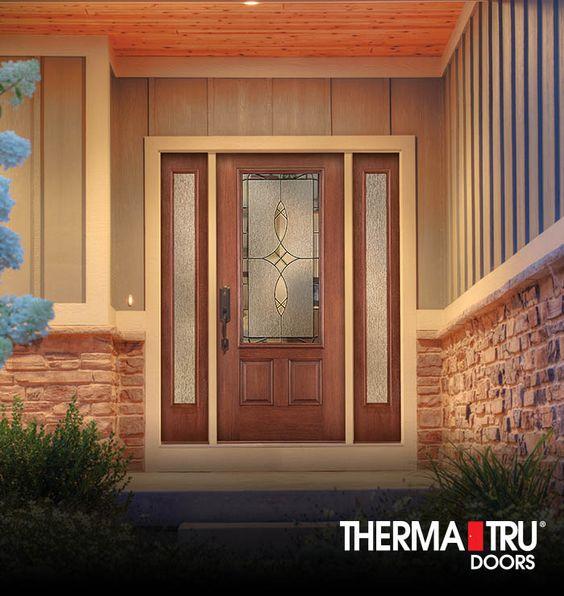 Therma tru fiber classic mahogany collection fiberglass for Therma tru front door