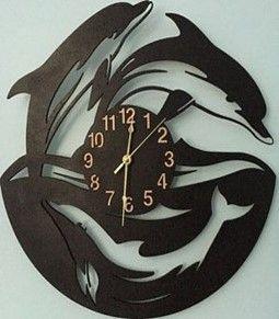 ساعة حائط مصنوعة من خشب الـ Mdf اشكال عديدة تناسب الجميع Wood Wall Clock Wood Clocks Wall Clock
