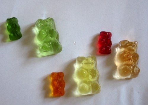 Growing Gummy Bears by kidsmakestuff: A variation is to compare salt water vs plain water.  #Gummy_Bears #Kids #kidsmakestuff