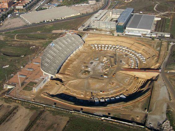 Antes del nuevo estadio del Atlético de Madrid