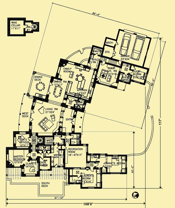 Not A Bad Layout Kitchen Could Be More Central Floor Plans How To Plan House Plans