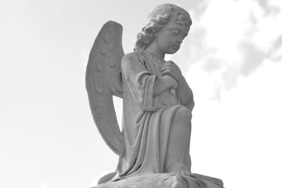 Angel on tomb in St. Louis Cemetery 1.