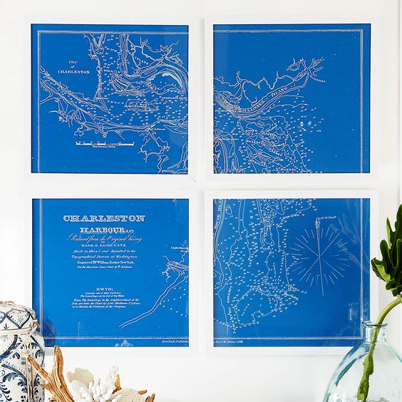 Nautical Charts Wall Art Wall Art- Wisteria.com
