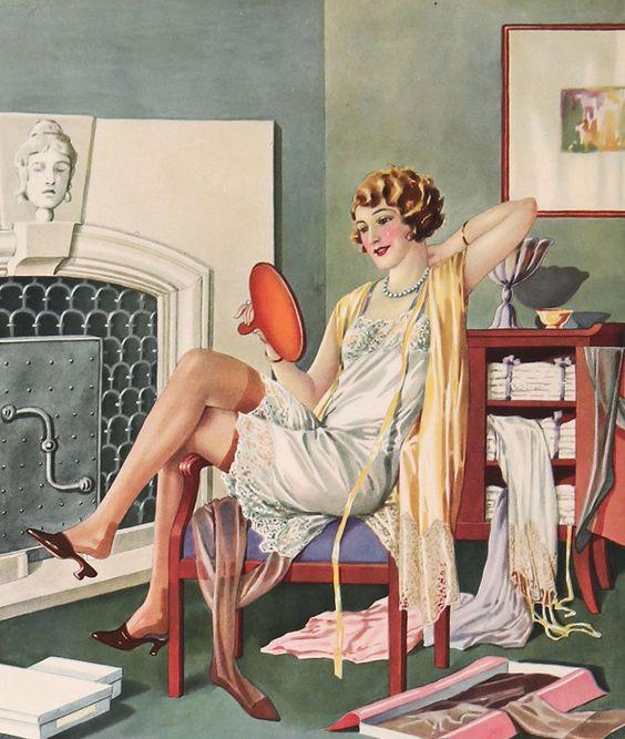 1920's lingere ad