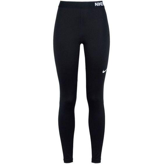 Nike Leggings ($47) ❤ liked on Polyvore featuring activewear, activewear pants, black, logo sportswear, nike, nike activewear, nike jerseys and nike sportswear