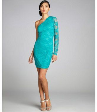 Bird does do u think this will match yours? POPSUGAR Shopping: Wyatt jade stretch lace one shoulder evening dress