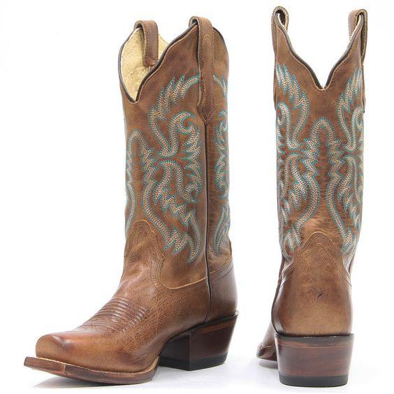 Nocona Women's Old West Tan Western Boots [NL5009]