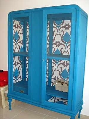 Muebles reciclados con papel pintado ideas diy and - Decorar muebles con papel pintado ...