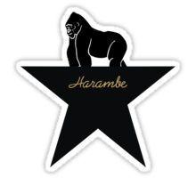 harambe - hamilton musical Sticker