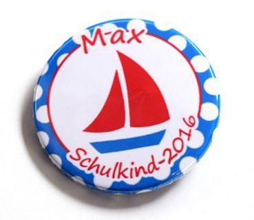 Button Schulkind 2016 Segelboot