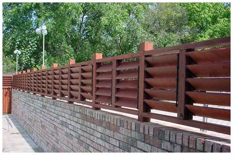 Fence On Top Of Retaining Wall Flex 183 Fence Louvered