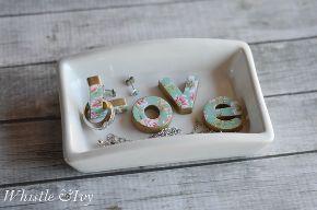 diy love trinket dish, crafts, organizing